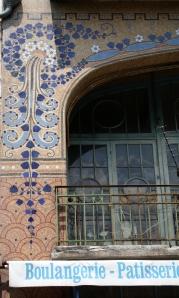 Patisserie Rozier, La Bourboule, France - Mosaic details