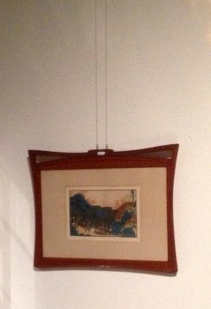 Mahogany frame by Van de Velde