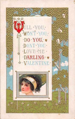 Art Nouveau Valentine's Card