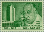 1963 Henry van de Velde 1863-1957 Architect Stamp