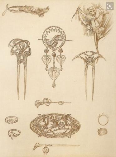 Jewelry design by Alphonse Mucha