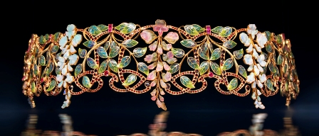 Epoque Fine Jewels - Choker 'Glycines' by Philippe Wolfers
